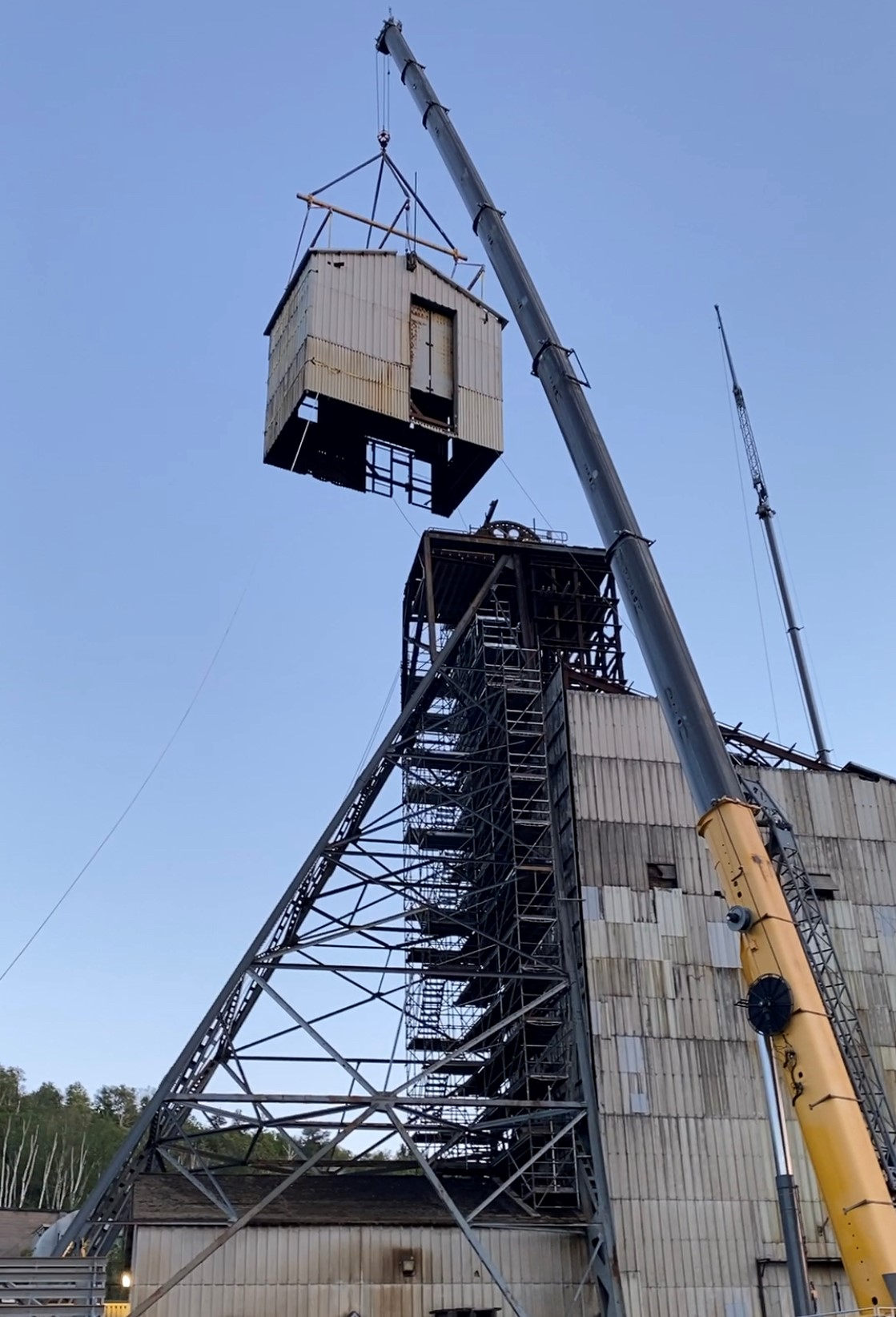 Way to go Danielle Matte with the expertise for the Removal & Replacement of the Compartment Structure and Engineering Support for the removal of the Headframe Sheave House, Sheave Wheels and Sheave Deck!